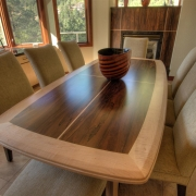 Custom Built Table - Bocote and Maple
