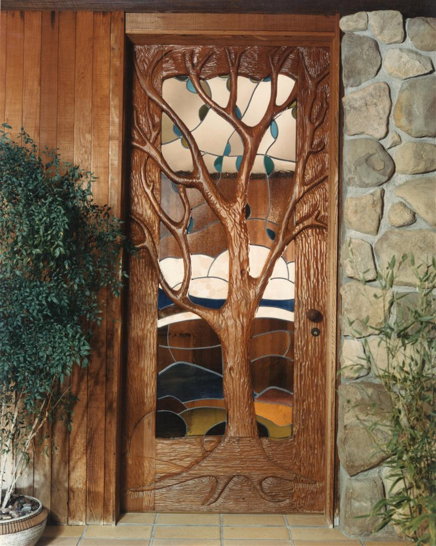 Special construction features custom carpentry durango for Unique front entry doors