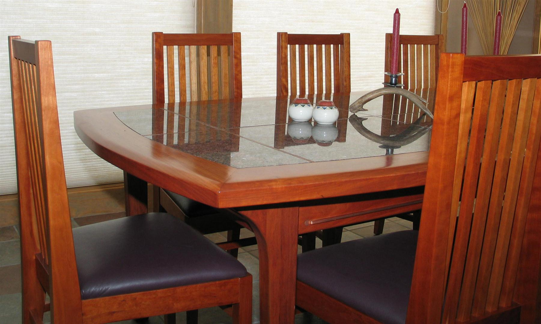 Custom Built Dining Table and Chairs - Cherry