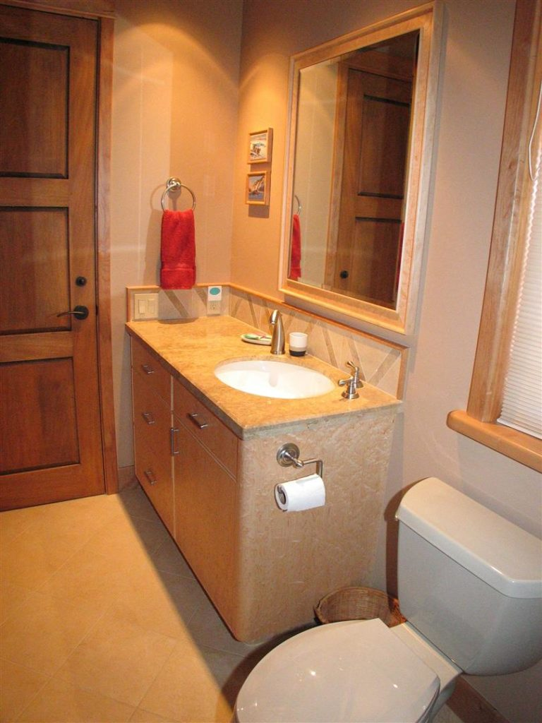 Lav Cabinet and Matching Mirror Frame