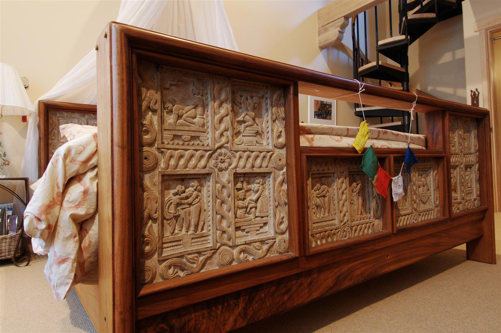 Custom Built Kama Sutra Carved Bed