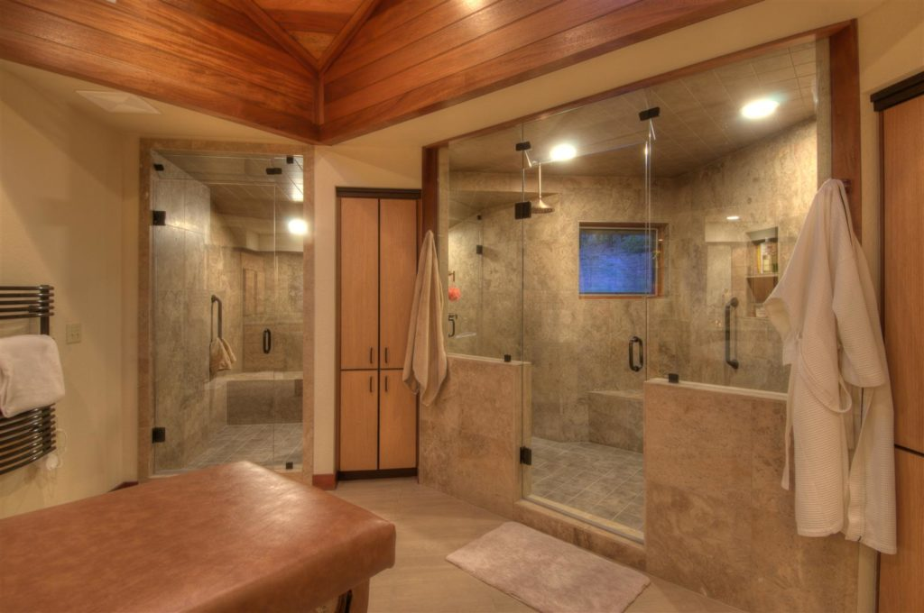 Large Shower and Adjoining Steam Shower