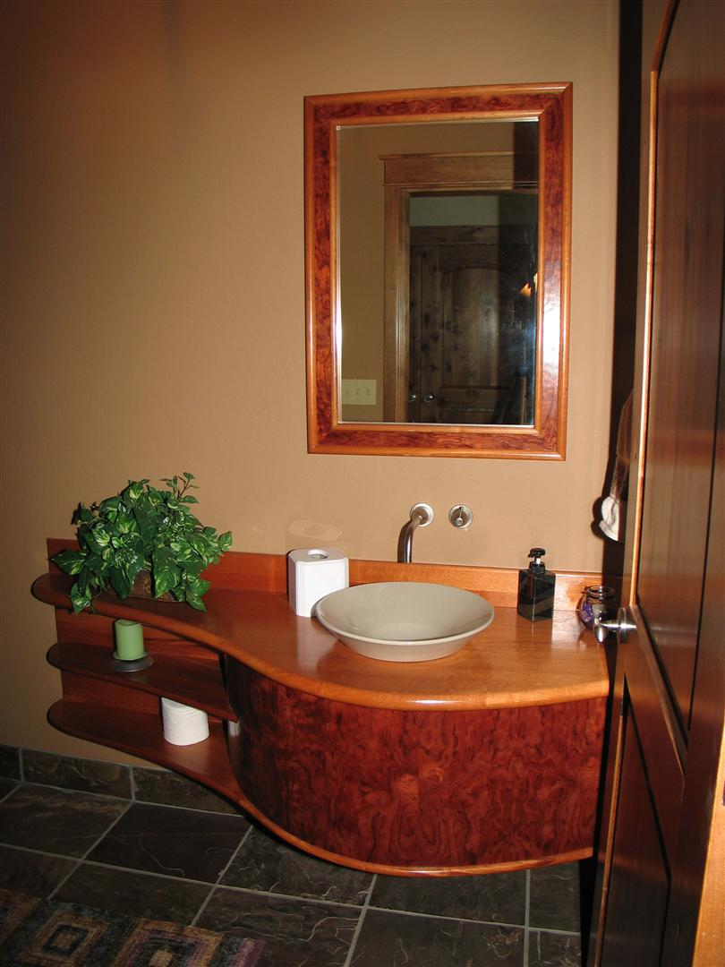 Curved Powder Room Counter