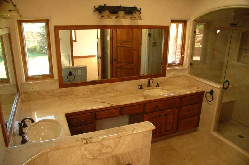 Marble Top Lav Counter
