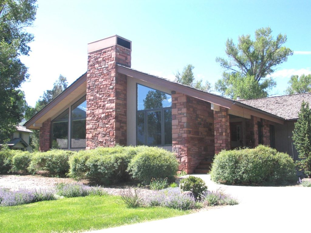 Stone exterior on Mountain Contemporary