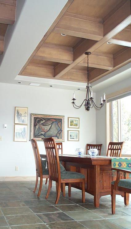 coffered-dining room-ceiling
